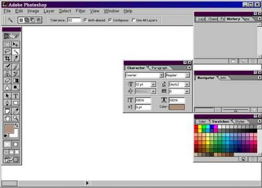 محیط قدیمی تر نرم افزار فتوشاپ