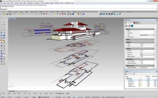 طراحی معماری با راینو