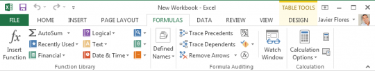 Section related to calculations and formulas in Excel