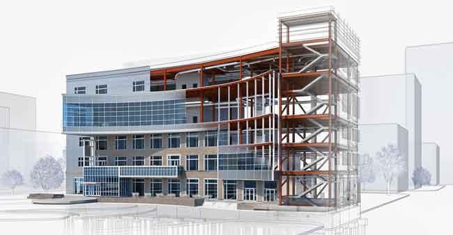 نمونه ساختمان مدل شده با رویت