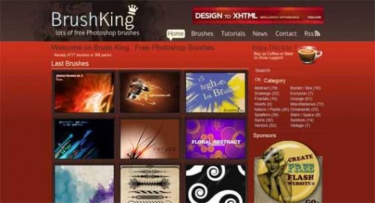 brushking 540x292 - ۷ تا از بهترین وب سایت های دانلود رایگان وکتور، براش، پترن و تکسچر فتوشاپ