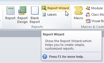 creating reports in microsoft acess