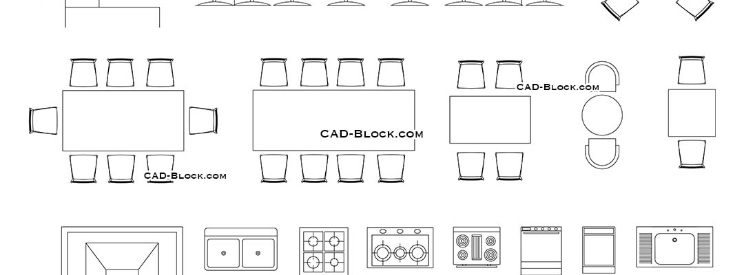 cad bar furniture blocks