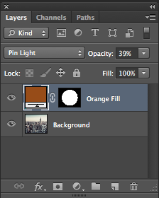 layers palette with masked layer