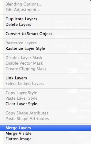 Right-click Layers menu