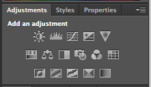 Screenshot of Adjustments palette