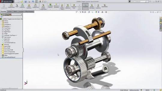 مدلسازی چرخ دنده در سالیدورک