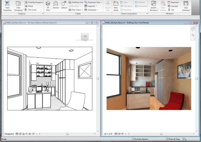 Revit rendering