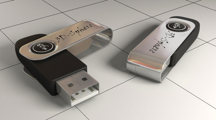 usb modeled by 3dsmax