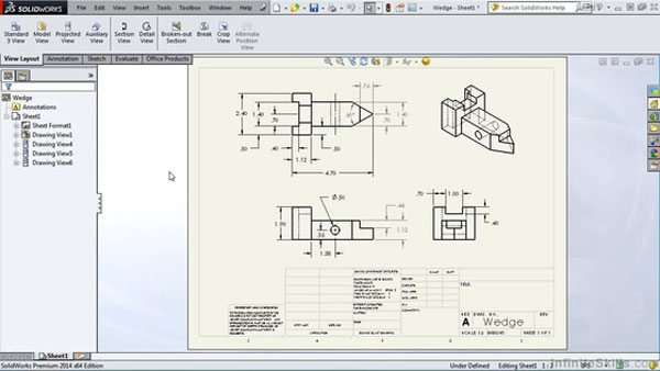 UI of solidworks