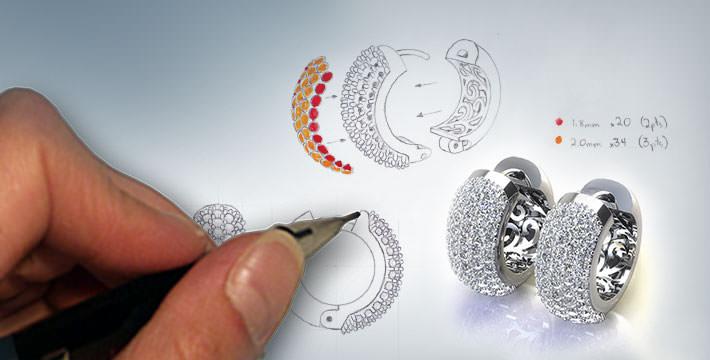در حال طراحی جواهرات
