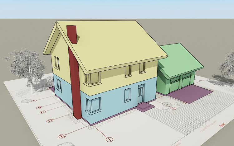 Autocad_architecture_house_layout