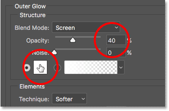 photoshop-outer-glow-layer-style-options