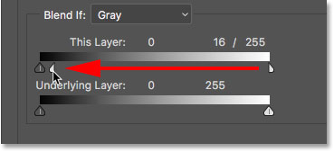 Blending the lighter areas of the Smooth Skin layer with the Blend If sliders