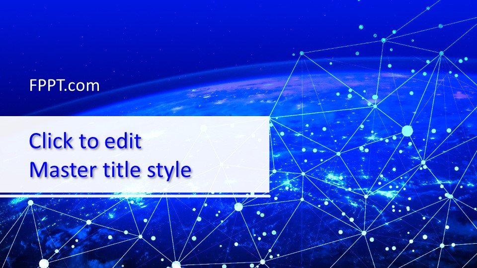 Blue technology PowerPoint template