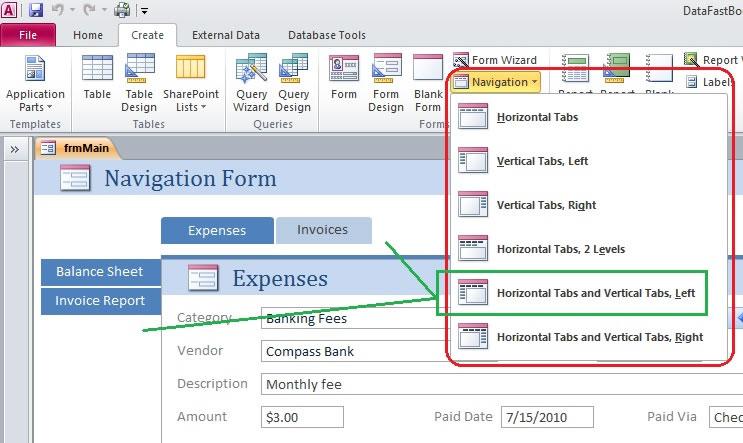 Microsoft Access 2010 Navigation forms