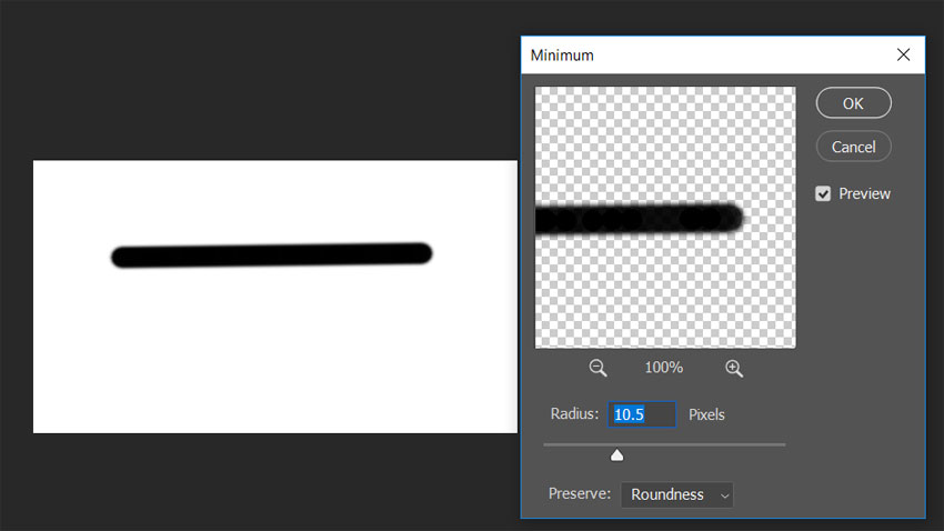 Thicken Lines In Photoshop Using The Minimum Filter